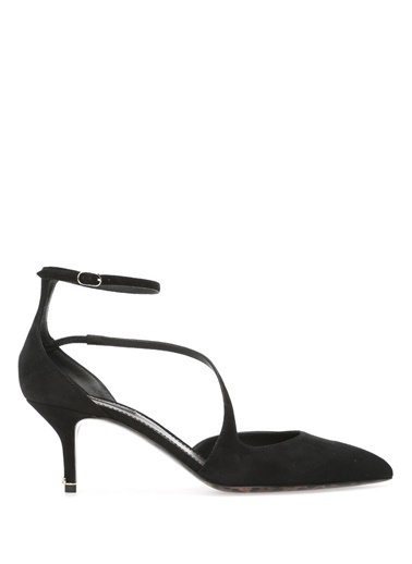 Dolce&Gabbana %100 Deri Sivri Burun Ayakkabı Siyah